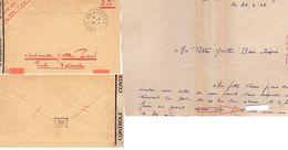 """L-  Cachet: """" Contrôle - """" -( Lettre Censurée ) - - Guerra Del 1939-45"""