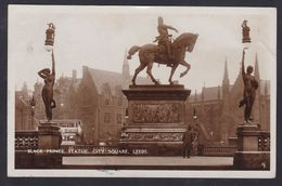 Great Britain - Black Prince Statue City Square, Leeds - Real Photo Posted 1931 - Leeds