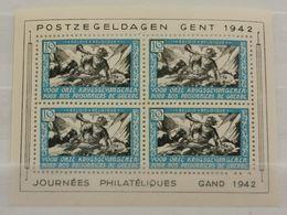 Journée Philatéliques Gand 1942, 10Fr Pour Nos Prisonniers De Guerre - Belgium