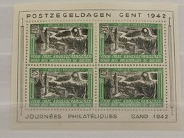 Journée Philatéliques Gand 1942, 5Fr Pour Nos Prisonniers De Guerre - Belgium