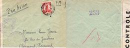 """L-    MAROC -  Cachet: """" Ouvert Par Les Autorités De Contrôle - Y.O -"""" (Agadir ) - - Guerra Del 1939-45"""