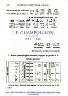""""""" CHAMPOLLION """" Sur Encart 1° Jour De N°té Sur SOIE De 4 Pages De 1972. N° YT 1734. FDC - Egyptology"""