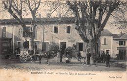 CPA Cabannes (B.-du-.R) - Place De L'Eglise Et Bureau Des Postes - Autres Communes