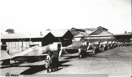 PHOTO AVION         GROUPE DE CURTISS HAWK 75 A AVIATION MILITAIRE HOLLANDAISE 1942     RETIRAGE REPRINT - Aviation