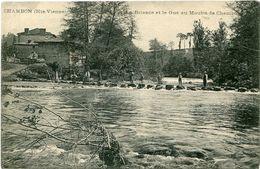87. HAUTE-VIENNE - CONDAT. La Briance Et Le Gué Au Moulin De Chambon. Jolie Scène. - Condat Sur Vienne
