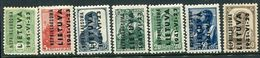 LITHUANIA 1941 Overprint Set To 50 K. LHM / *.  Michel 1-7 - Occupation 1938-45