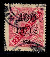 ! ! Angola - 1915 King Carlos 130 R (Perf. 13 1/2) - Af. 186d - Used - Angola