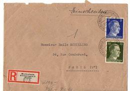 C1 1943/44  Lettre STO Censurée  Recommandée Merlenbach-freimengen 2 - Marcophilie (Lettres)