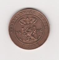 1 CENT 1896 WILHELMINE CUIVRE - Indonesia