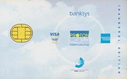 Banksys Belgium Proton American Express And Visa Inaugural Edition - Belgique