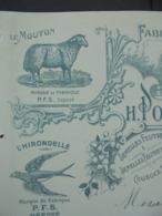 FACTURE - 16 - DEPARTEMENT DES CHARENTES, MONTMOREAU 1911 - FABRIQUE DE CHAUSSURES FEUTRE : H. POTHEE FRERE .... - Non Classificati