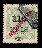 ! ! Zambezia - 1914 King Carlos OVP 115 R Local Republica - Af. 72 - Used - Zambèze