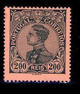 ! ! Portugal - 1910 D. Manuel 200 R - Af. 166 - MH - 1910 : D.Manuel II
