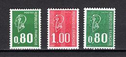 FRANCE  N° 1891 à 1893    NEUFS SANS CHARNIERE  COTE 2.80€    MARIANNE DE BEQUET - 1971-76 Maríanne De Béquet