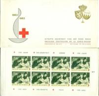 Belgie 1963 Boekje Eeuwfeest Rode Kruis Voorrang Nederlands OPB 1267B MNH - Booklets 1953-....