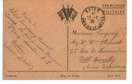 C1 1940 Carte FM Du Camp De Prisonniers D'AUTUN En Saone Et Loire - Marcophilie (Lettres)