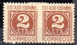Pareja Horizontal Sin Perforacion Central  Nº 815 Sph España - Variedades & Curiosidades