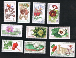 ROMANIA - SG 3314.3323  - 1965 CLUJ BOTANICAL GARDENS   (COMPLET SET OF 10) -  MINT** - Nuovi
