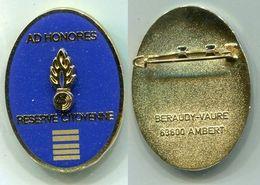 X501 INSIGNE GENDARMERIE Réserve Citoyenne De La Gendarmerie Nationale, Colonel - Police & Gendarmerie