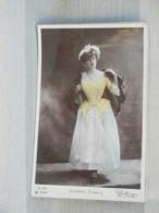 CARTE FANTAISIE - JEANNE FABER - VEDETTE DE THEÂTRE EPOQUE 1900 - Teatro