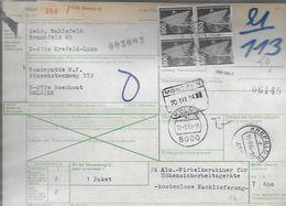 Paketkarte Van Krefeld12 Naar Boechout - BRD