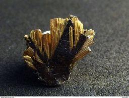 Rutile On Hematite (1 X 1 X 0.2cm) - Novo Horizonte -  Bahia - Brazil - Mineralen