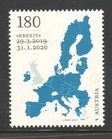 """Österreich 2020: Block """"BREXIT"""" Postfrisch Luxus (s. Foto) - 2011-... Usati"""