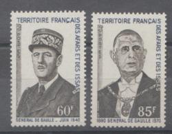 AFARRS  DE  ISSAS 1971  **   MNH  YVERT   75/76   GENERAL DE GAULLE - France (ex-colonies & Protectorats)