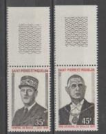 ST.PIERRE Y MIQUELON 1971  **   MNH  YVERT   419/20   GENERAL DE GAULLE  VALOR  62 € - France (ex-colonies & Protectorats)