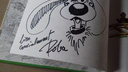 HC Tekening Roba  V'la Boule Et Bill -  1988 - Autographs