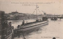 Établissements SCHNEIDER Et Cie Chantiers De CHALONS Sur SAONE Le Submersible S.C.1 (sous Marin) - Sous-marins