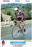 Carte Cyclisme -  Didier Lebaud.  Volvo - Super Vitus - Duralinox - Campagnolo - Concor - Adidas . - Cycling
