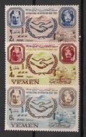 Yemen - 1965 - N°Yv. 216 à 217 + PA 55 - Coopération Internationale - Neuf Luxe ** / MNH / Postfrisch - Yemen