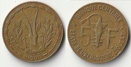 Pièce De 5 Francs CFA XOF 1990 Origine Côte D'Ivoire Afrique De L'Ouest - Côte-d'Ivoire