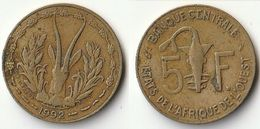 Pièce De 5 Francs CFA XOF 1992 Origine Côte D'Ivoire Afrique De L'Ouest - Ivory Coast