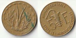 Pièce De 5 Francs CFA XOF 2007 Origine Côte D'Ivoire Afrique De L'Ouest - Ivory Coast