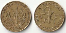 Pièce De 5 Francs CFA XOF 2008 Origine Côte D'Ivoire Afrique De L'Ouest - Côte-d'Ivoire