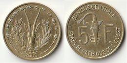 Pièce De 5 Francs CFA XOF 2009 Origine Côte D'Ivoire Afrique De L'Ouest - Côte-d'Ivoire