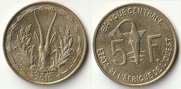 Pièce De 5 Francs CFA XOF 2010 Origine Côte D'Ivoire Afrique De L'Ouest - Côte-d'Ivoire
