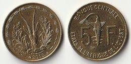 Pièce De 5 Francs CFA XOF 2013 Origine Côte D'Ivoire Afrique De L'Ouest - Ivory Coast