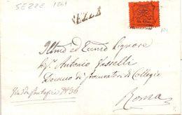 1869 Stato Pontificio Da SEZZE Per Roma  Con 10 Cent. - Stato Pontificio