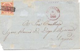 1860 Regno Di Napoli Con 2 Gr. Da  TENNE Per Napoli -francobollo Perfetto Ampi Margini - Napoli