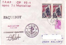 Marion Dufresne FSAT TAAF. 25.11.92 SPA. Op J.C Marcellier 03.12.92 Le Port Reunion - Brieven En Documenten