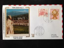 Switzerland, Addressed FDC, « Pope John Paul II», « Official Flight SION - ROME », 1984 - FDC