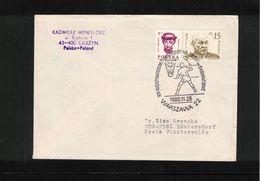 Poland / Polska 1988 Badminton Interesting Letter - Badminton