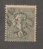 Perforé/perfin/lochung France No 130 C.X. Sté Des Mines De Carmaux (380) - Perforés