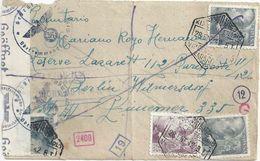 Zensur R Briefvs  Zaragoza - Berlin           1942 - 1931-Today: 2nd Rep - ... Juan Carlos I