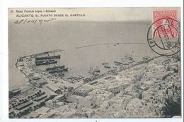 ALICANTE : El Puerto Desde El Castillo - Edicion Bazar Pascual Lopez N°32 - Alicante