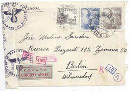Zensur R Briefvs  Madrid - Berlin           1942 - 1931-Today: 2nd Rep - ... Juan Carlos I
