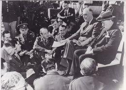 PHOTO DE PRESSE ORIGINALE WW2 1943 CONFERENCE DE CASABLANCA ROOSEVELT ET CHURCHILL - Guerra, Militari